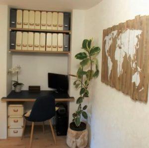 Aménagement d'un bureau style scandinave