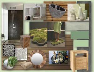 Planche tendance pour une salle de bain ZEN